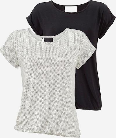 LASCANA Shirt in de kleur Zwart / Offwhite, Productweergave