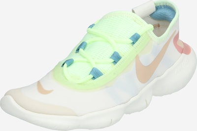 NIKE Chaussure de course 'Free RN 5.0 2020' en bleu / citron vert / coquille d'oeuf, Vue avec produit