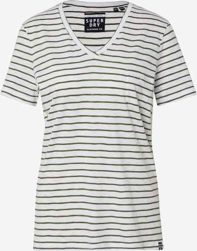 Superdry T-Shirt 'OL ESSENTIAL VEE TEE' in khaki, Produktansicht