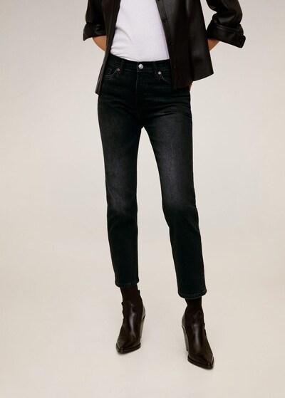 MANGO Jeans 'Newgrace' in black denim, Modelansicht