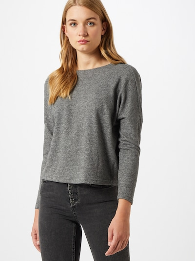 ONLY Pullover 'MAYEA' in graumeliert: Frontalansicht