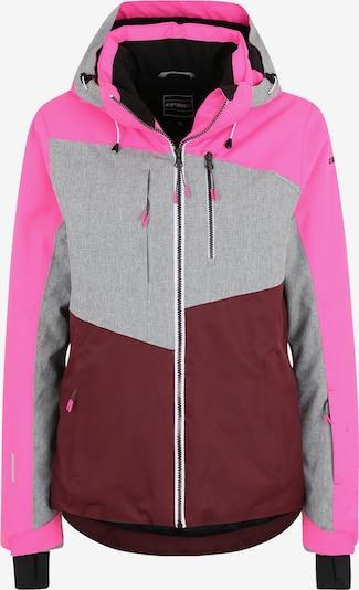 ICEPEAK Outdoorjas 'Calion' in de kleur Grijs / Pink / Wijnrood, Productweergave