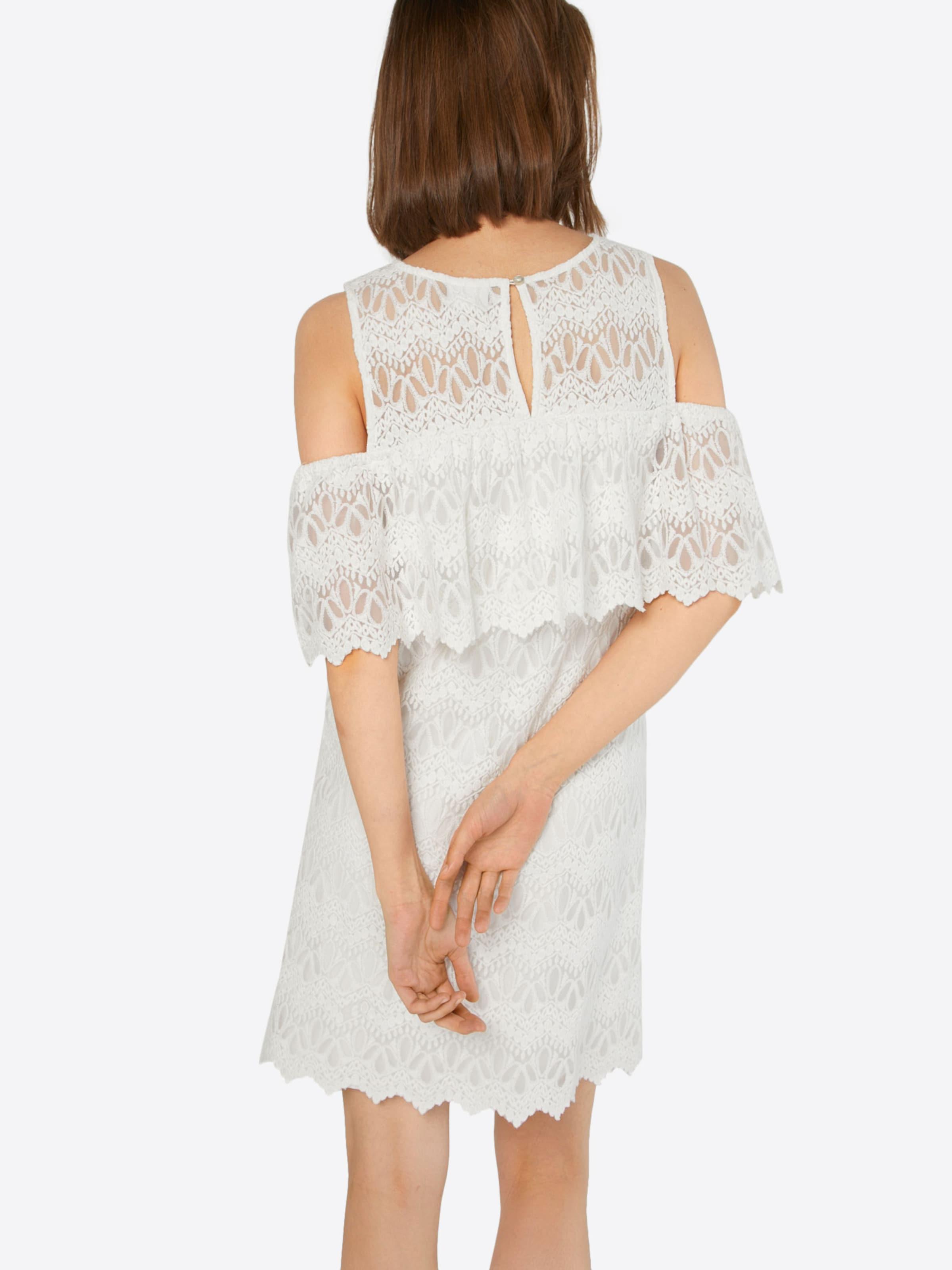 Kleid Cold In Vila Shoulder Weiß yvYfIg6b7m
