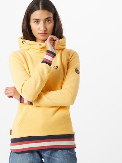 Alife and Kickin Sweat-shirt 'Sarah' en bleu marine / jaune / rouge / blanc: Vue de face