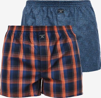 s.Oliver Boxershorts in blau / orange / schwarz, Produktansicht