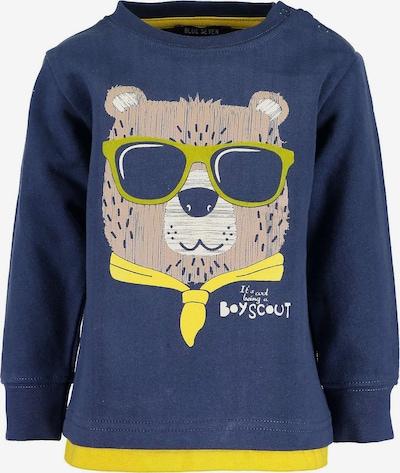 BLUE SEVEN Sweatshirt in blau / hellbraun / gelb / weiß, Produktansicht