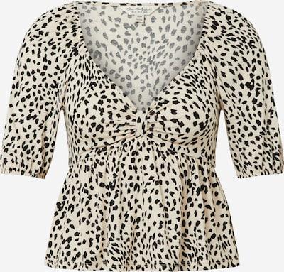 Miss Selfridge Shirt 'PRINT KNOT FRONT TEA' in beige / schwarz, Produktansicht