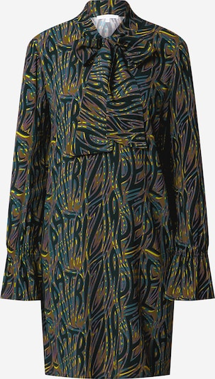 PATRIZIA PEPE Shirt dress in Yellow / Khaki / Petrol / Emerald / Dark purple, Item view