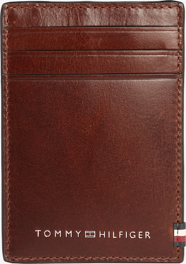 TOMMY HILFIGER Portemonnee 'POLISHED LEATHER VERTICAL CC HOL' in de kleur Kastanjebruin, Productweergave
