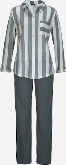 VIVANCE Pyjama 'Dreams' in basaltgrau / weiß, Produktansicht