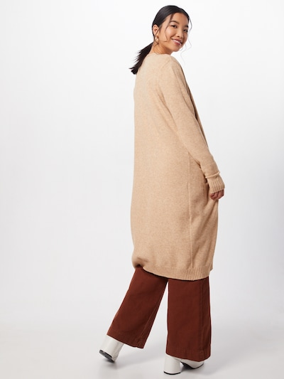 VILA Gebreid vest 'Ril' in de kleur Beige: Achteraanzicht