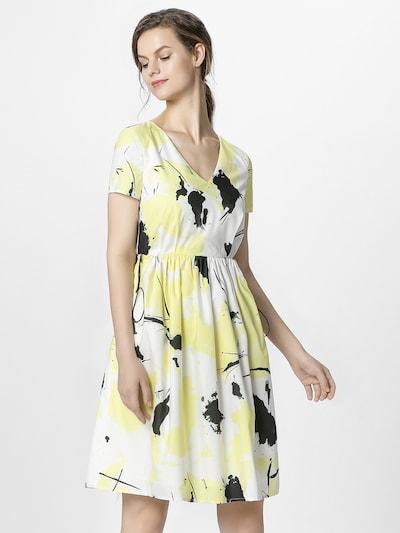 APART Letní šaty - žlutá / černá / bílá: Pohled zepředu