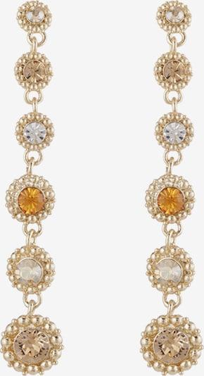 LILY AND ROSE Ohrringe 'Petite Celeste' in braun / gold / orange, Produktansicht
