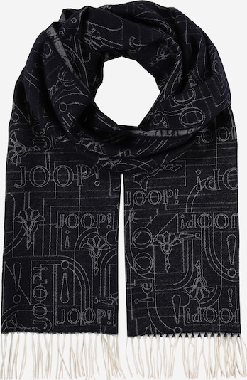 JOOP! Schal 'Fedon ' in hellgrau / black denim, Produktansicht