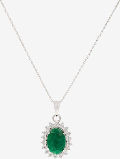 VIVANCE Halskette 'Smaragd Topasen' in smaragd / silber, Produktansicht