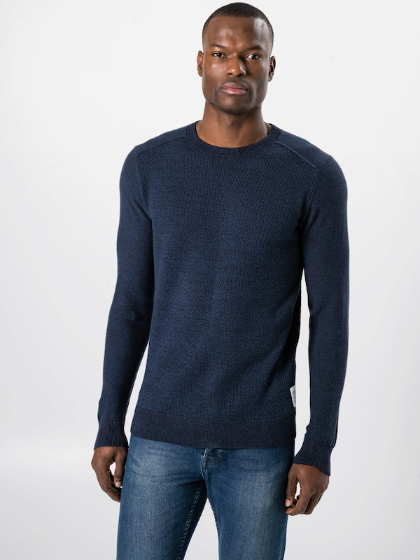 Bleu Pull En Marine over Tom Tailor E2WHYD9I
