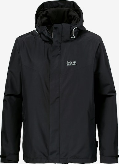 JACK WOLFSKIN Outdoorjas 'Arland 3In1' in de kleur Zwart, Productweergave