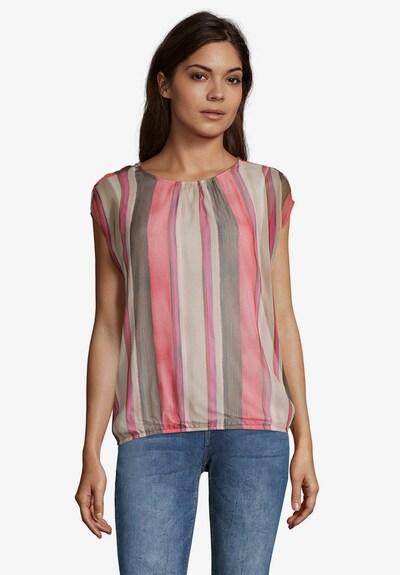 Cartoon Blusenshirt in beige / pink, Modelansicht