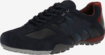 GEOX Sneaker 'Uomo Snake' in nachtblau / dunkelgrau / rot, Produktansicht