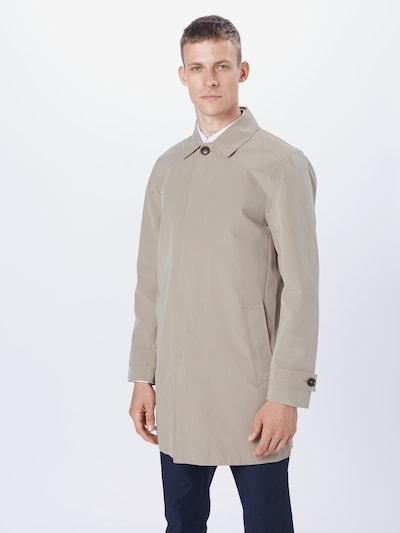 BURTON MENSWEAR LONDON Abrigo de entretiempo en marrón claro, Vista del modelo