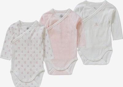 PETIT BATEAU Wickelbodies in pink / rosa / weiß, Produktansicht