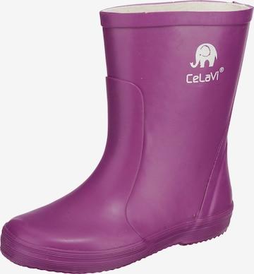 CELAVI Rubber Boots in Purple