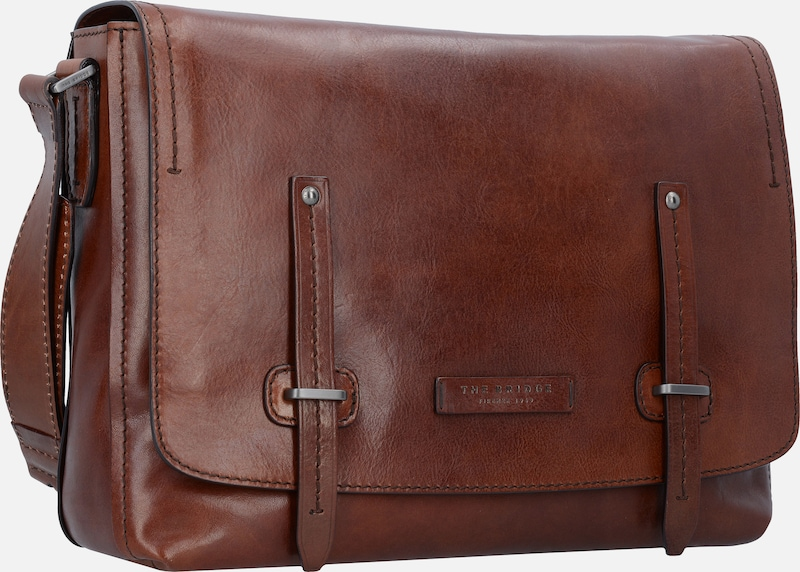 The Bridge 'Kallio' Messenger Aktentasche Leder 36 cm Laptopfach