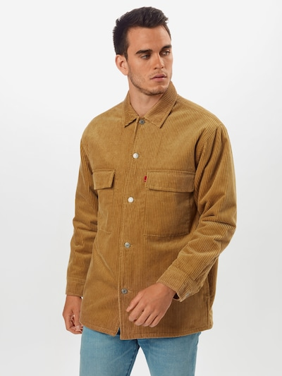LEVI'S Langarmhemd ' Ofarrel ' in beige / gold: Frontalansicht