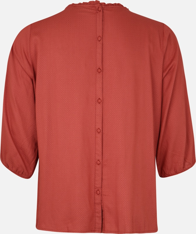 Zay Blouse 'YUVETTE' in de kleur Bordeaux, Productweergave