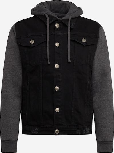 BRAVE SOUL Prechodná bunda 'MJK-HUDSONBLACK' - tmavosivá / čierna denim, Produkt