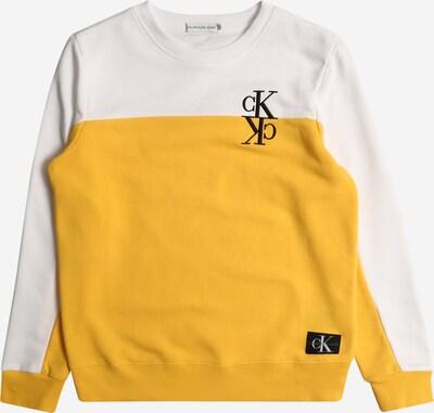 Calvin Klein Jeans Sweatshirt in gelb / weiß, Produktansicht