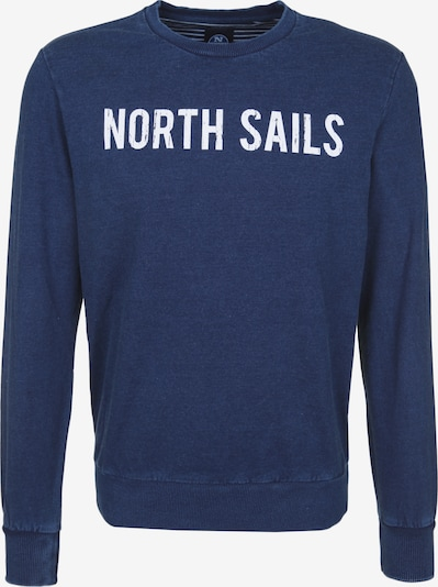 North Sails Sweatshirt in dunkelblau / weiß, Produktansicht