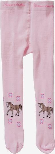 STERNTALER Strumpfhose in braun / pink / rosa / weiß, Produktansicht
