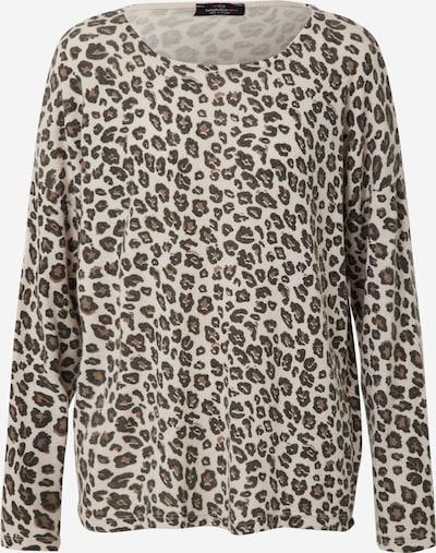 Zwillingsherz Pullover 'Leo' in beige / schwarz, Produktansicht