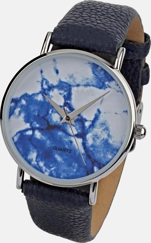 heine Armbanduhr mit marmoriertem Ziffernblatt