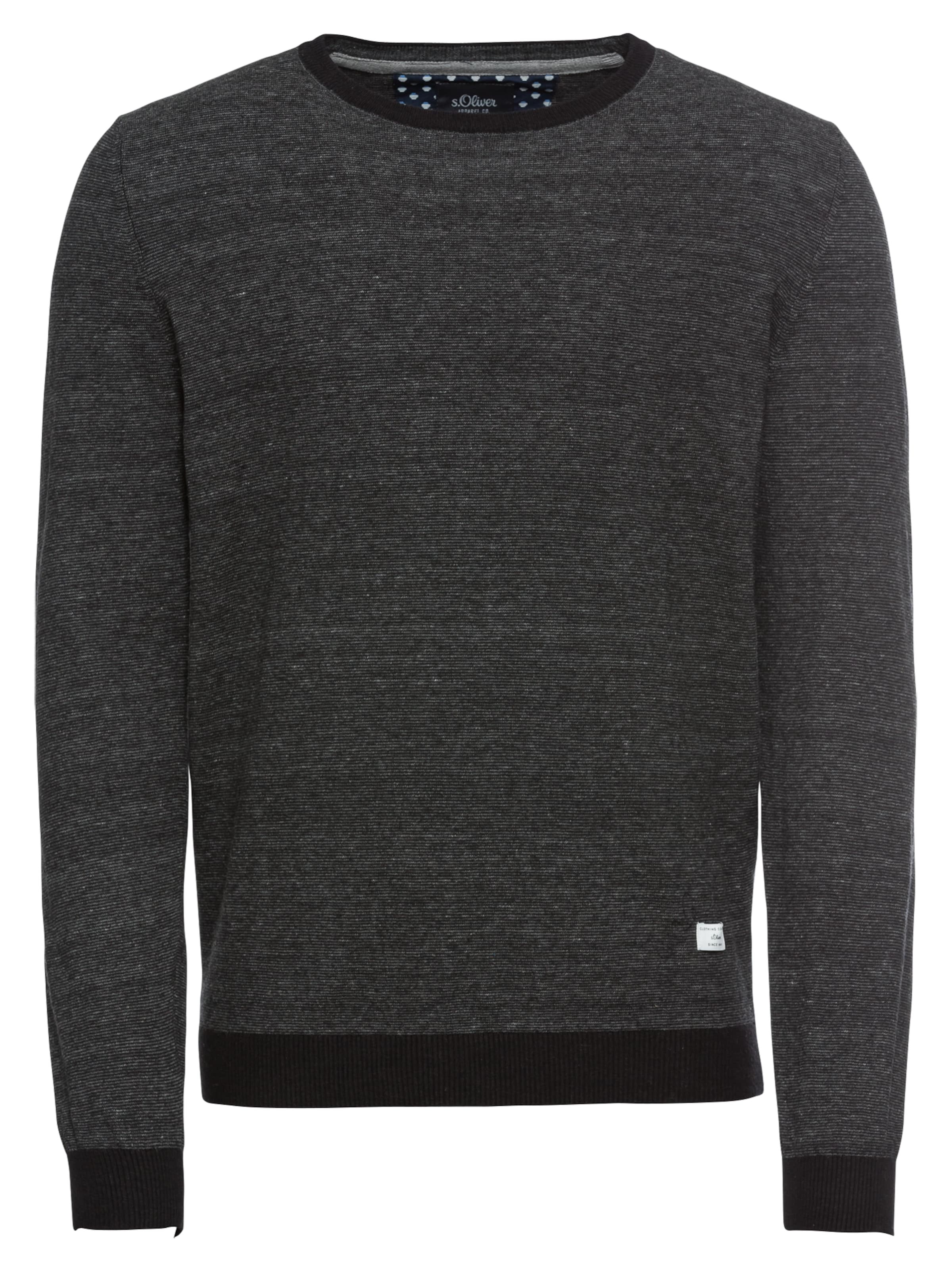 LabelPull In Nuit 'pullover' Bleu oliver over Red S vbf6Y7gy