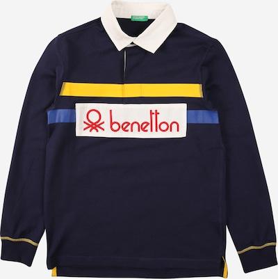 UNITED COLORS OF BENETTON Shirt in blau / dunkelblau / gelb / hummer / offwhite, Produktansicht