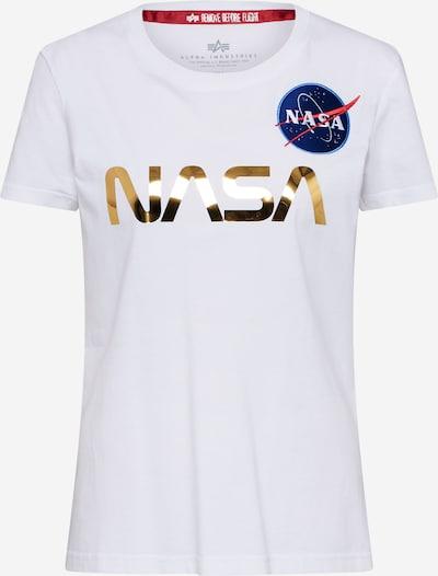 ALPHA INDUSTRIES Koszulka 'Nasa' w kolorze białym, Podgląd produktu