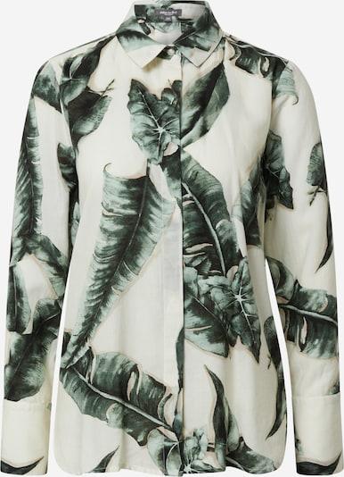 MINE TO FIVE Bluse in ecru / dunkelgrün, Produktansicht