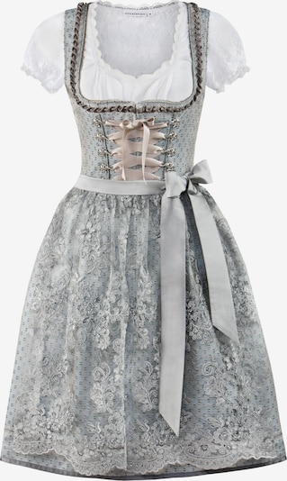 STOCKERPOINT Dirndl 'Nancy' in grau / weiß, Produktansicht