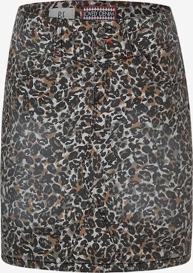 STREET ONE Rock in braun / grau / dunkelgrau / schwarz, Produktansicht