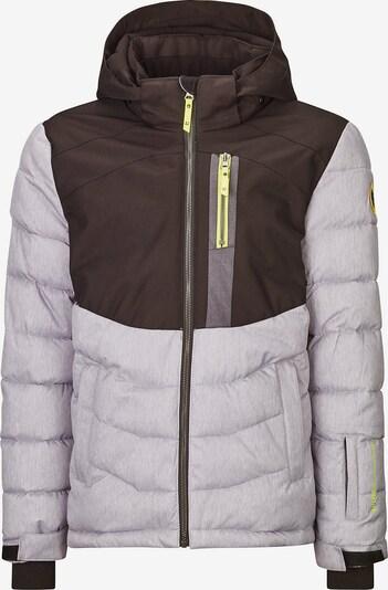 KILLTEC Outdoorjas 'Eloi' in de kleur Geel / Grijs / Zwart, Productweergave