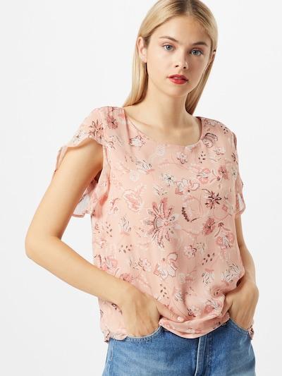 VILA Shirt in pink / rosa / weiß, Modelansicht