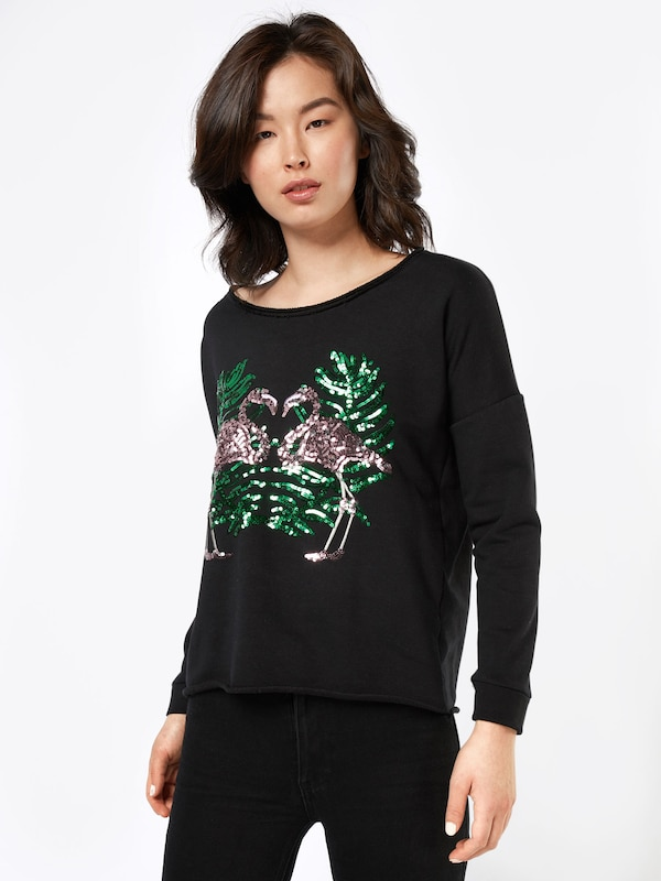 miss goodlife Pullover 'Flamingos'