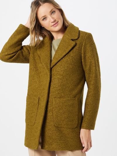 ICHI Mantel in grasgrün, Modelansicht