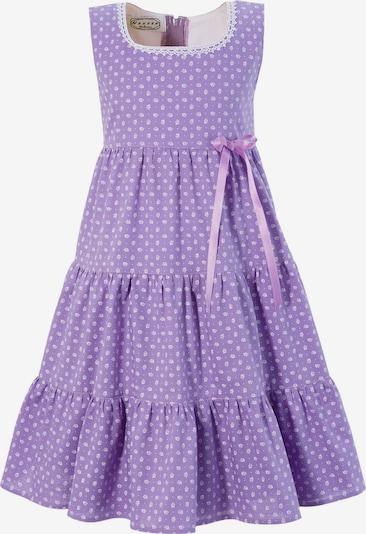 HANNAH Trachtenkleid in lila / weiß, Produktansicht