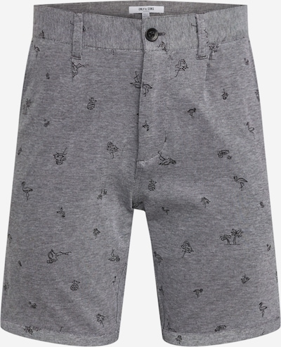 Only & Sons Shorts 'onsCUTON KNITTED PIQUE AOP SHORTS' in grau, Produktansicht