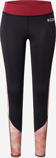ROXY Спортен панталон в антрацитно черно / розе / тъмночервено, Преглед на продукта