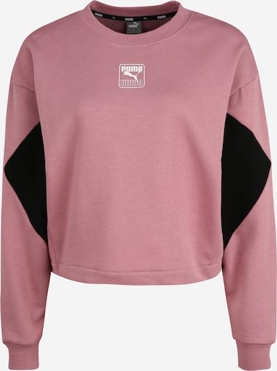 PUMA Sportsweatshirt 'Rebel Crew TR' in rosa / schwarz, Produktansicht