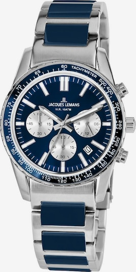 Jacques Lemans Uhr 'Liverpool' in dunkelblau / silber, Produktansicht